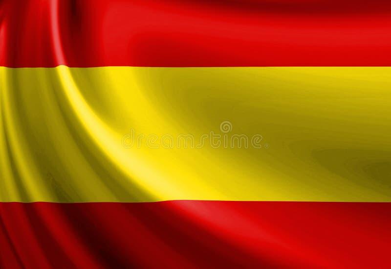 Indicateur espagnol illustration stock