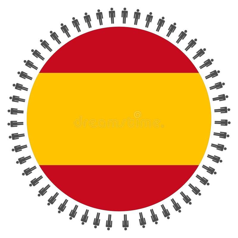 Indicateur espagnol avec des gens illustration de vecteur