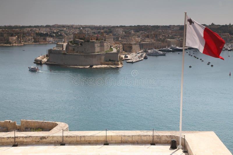Indicateur et rue maltais Angelo photos stock