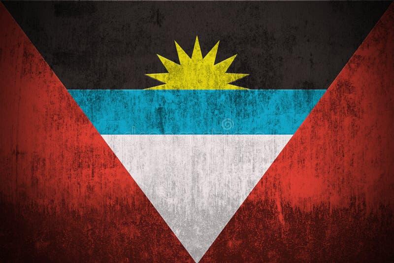 Indicateur grunge de l'Antigua et du Barbuda illustration libre de droits