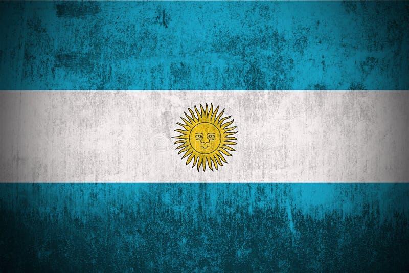 Indicateur grunge de l'Argentine illustration stock