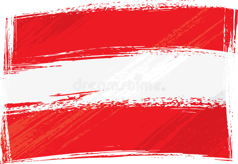 Indicateur grunge de l'Autriche illustration de vecteur