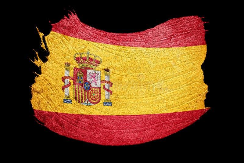 Indicateur grunge de l'Espagne Drapeau de l'Espagne avec la texture grunge Rappe de balai illustration de vecteur