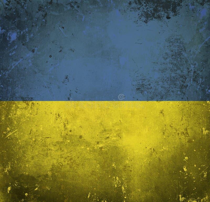 Indicateur grunge de l'Ukraine illustration de vecteur