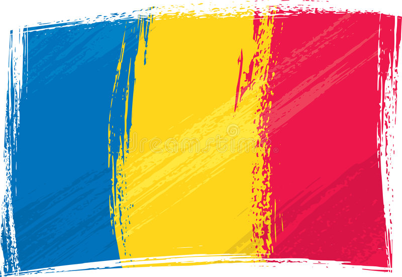 Indicateur grunge de la Roumanie illustration libre de droits