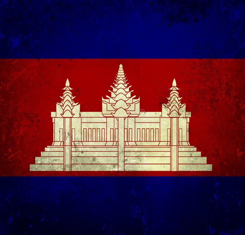Indicateur grunge du Cambodge illustration stock