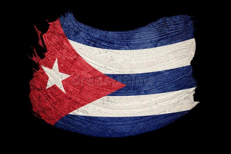Indicateur grunge du Cuba Drapeau cubain avec la texture grunge Rappe de balai illustration libre de droits