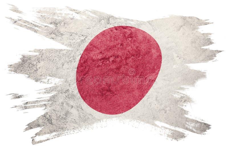 Indicateur grunge du Japon Drapeau du Japon avec la texture grunge Rappe de balai illustration libre de droits