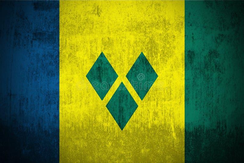Indicateur grunge du Saint Vincent And The Grenadines illustration libre de droits