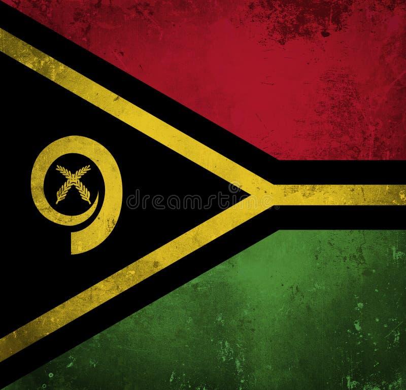 Indicateur grunge du Vanuatu illustration de vecteur