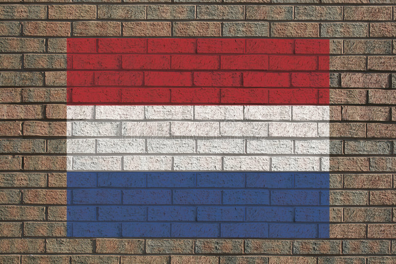 Indicateur hollandais sur le mur illustration libre de droits