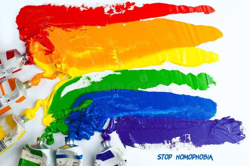 Indicateur homosexuel de fierté d'arc-en-ciel photos libres de droits