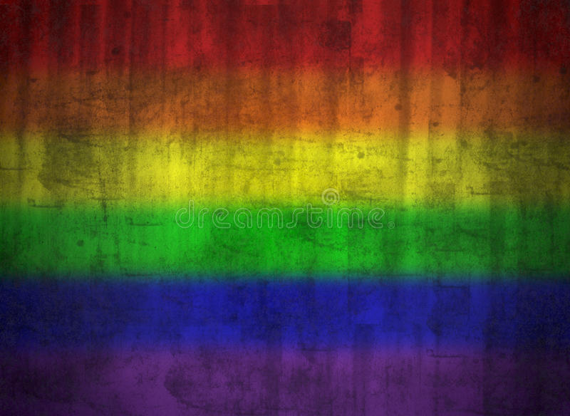 Indicateur homosexuel de grunge d'arc-en-ciel illustration libre de droits