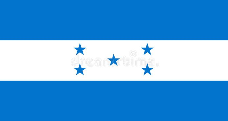 indicateur Honduras illustration stock