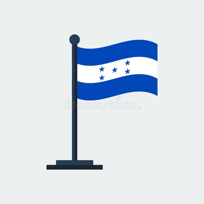 indicateur Honduras Support de drapeau Illustration de vecteur illustration de vecteur