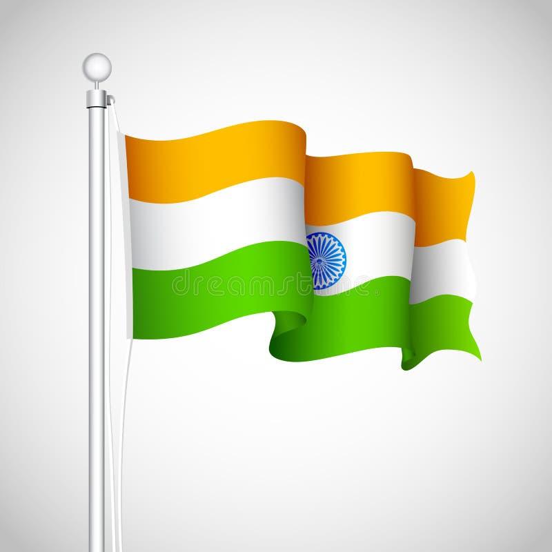 Indicateur indien de ondulation illustration stock