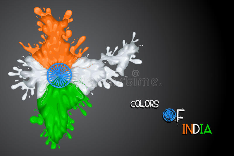 Indicateur indien sensationnel illustration stock