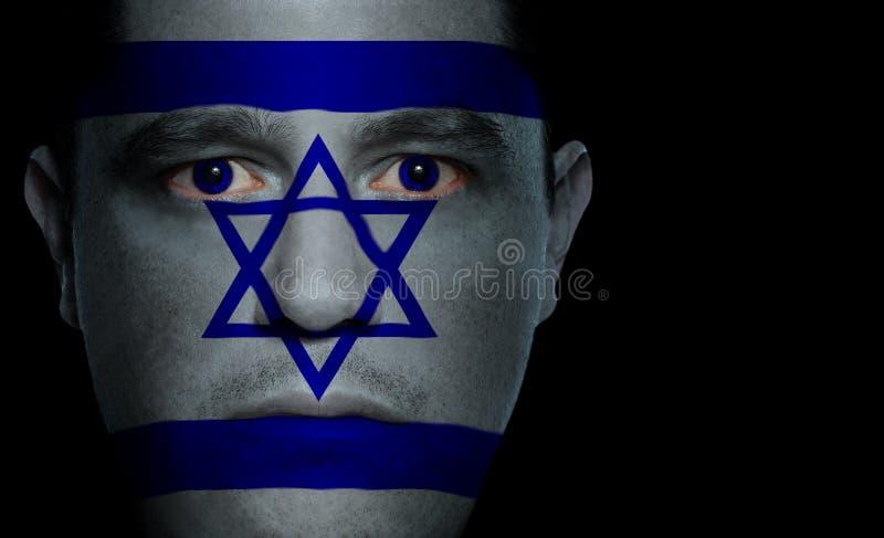 Indicateur israélien - visage mâle image libre de droits