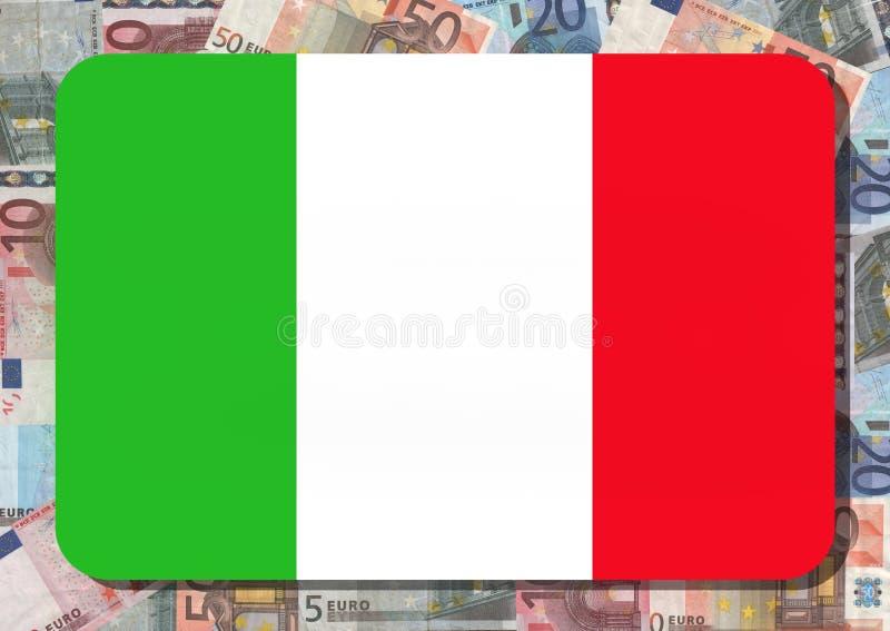 Indicateur italien avec des euro illustration libre de droits