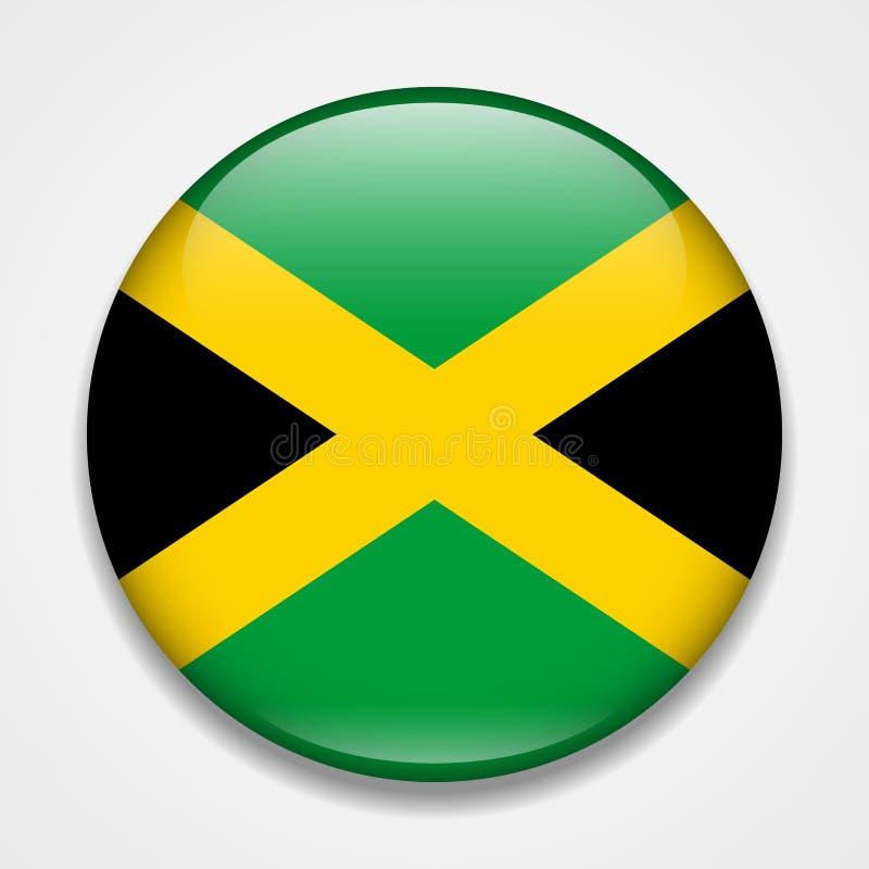 indicateur Jamaïque Insigne brillant rond illustration de vecteur