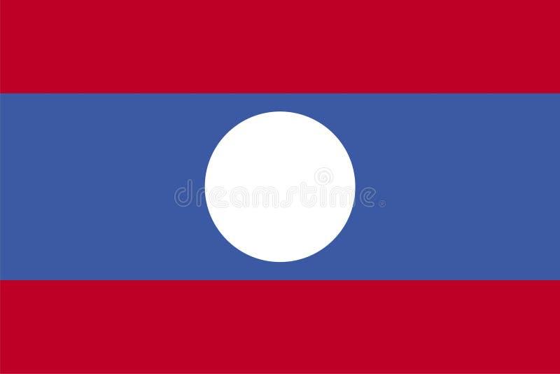 indicateur Laos illustration stock