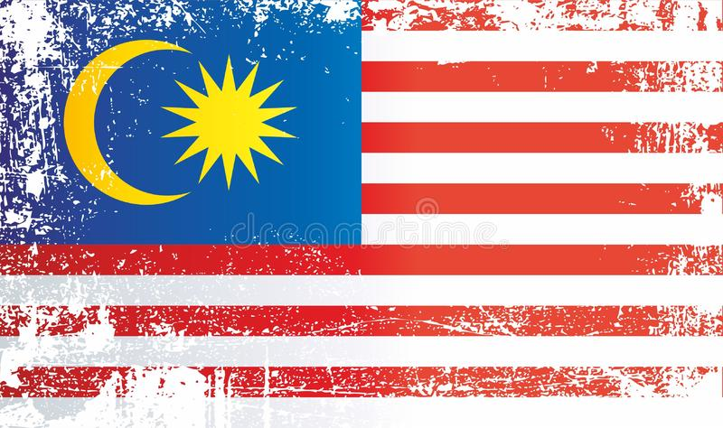 indicateur Malaisie Taches sales froissées photos libres de droits
