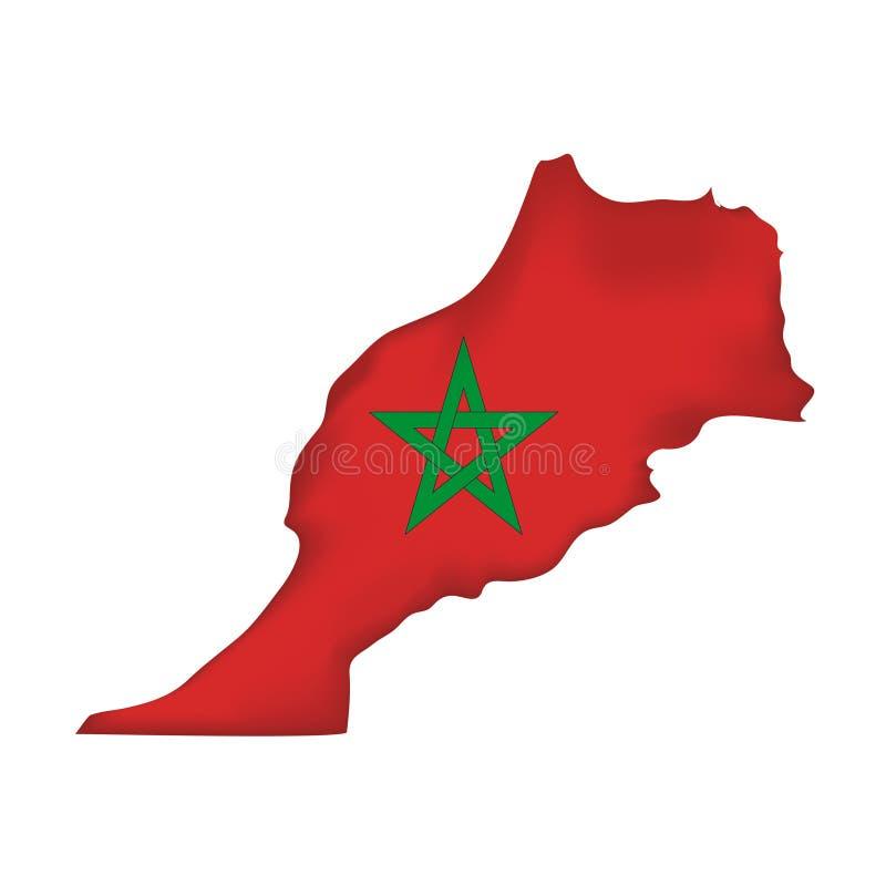 Indicateur Maroc de vecteur illustration de vecteur