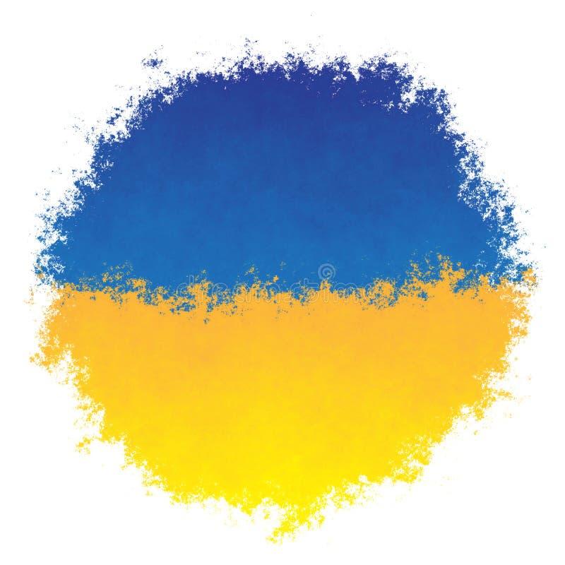 Indicateur national de l'Ukraine illustration de vecteur