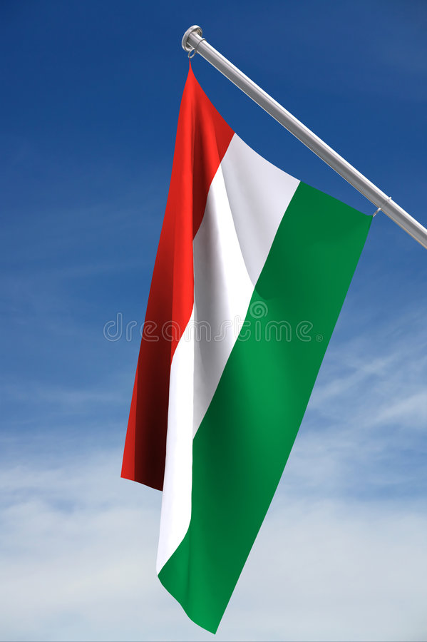 Indicateur national de la Hongrie illustration de vecteur