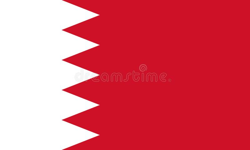 Indicateur national du Bahrain illustration libre de droits