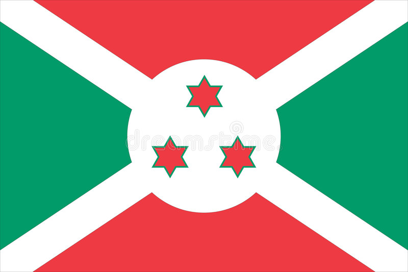 Indicateur national du Burundi illustration libre de droits