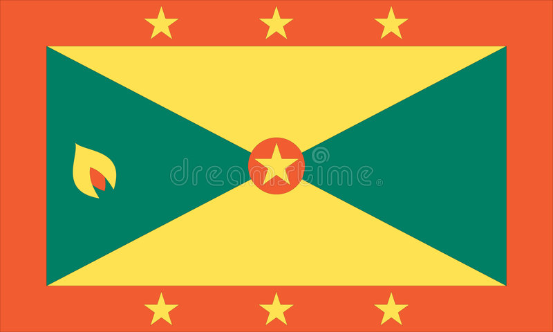 Indicateur national du Grenada illustration stock