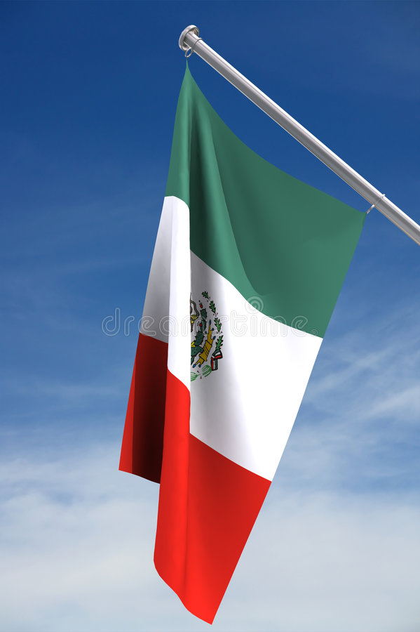 Indicateur national du Mexique illustration libre de droits