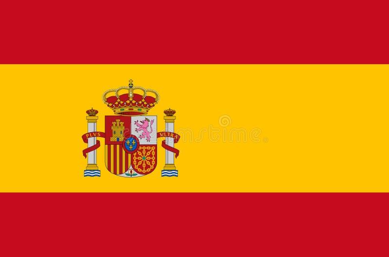 Indicateur national espagnol Drapeau officiel de l'Espagne, couleurs précises illustration stock