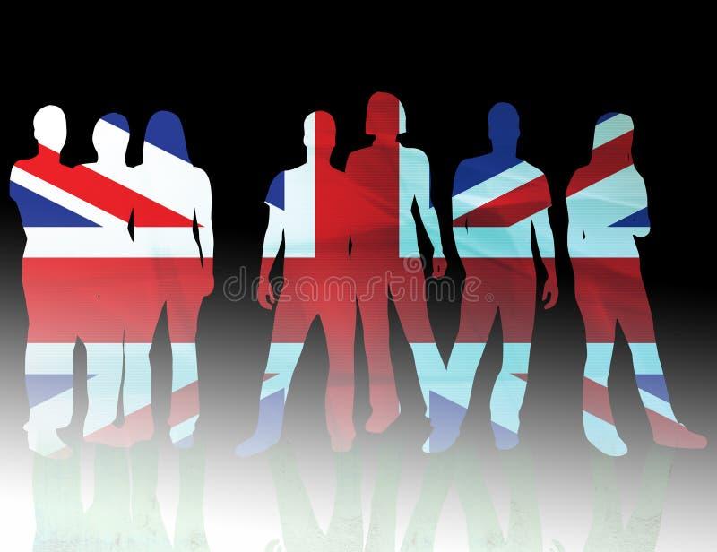Indicateur national Royaume-Uni illustration de vecteur
