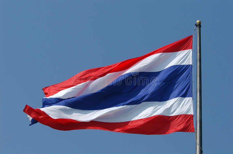 Indicateur national thaï photographie stock