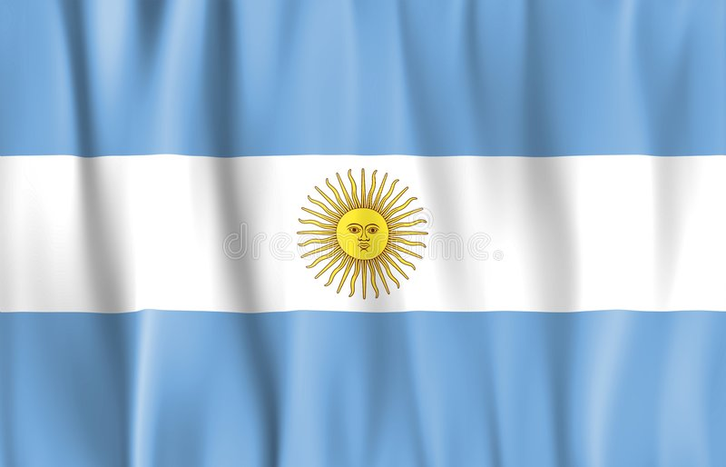 Indicateur ondulé de l'Argentine illustration de vecteur