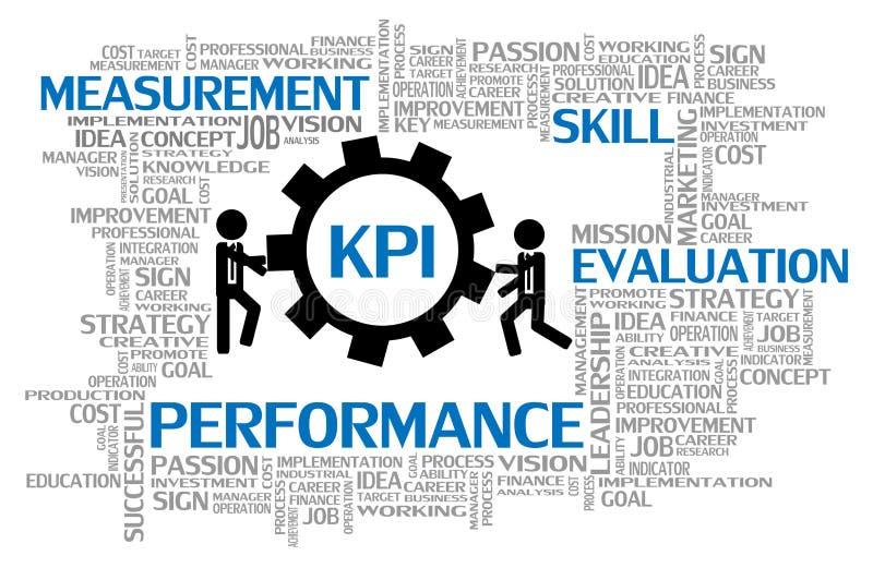 Indicateur ou KPI de jeu clé illustration libre de droits