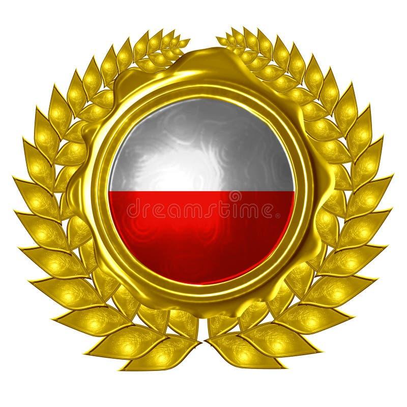 Indicateur polonais illustration de vecteur