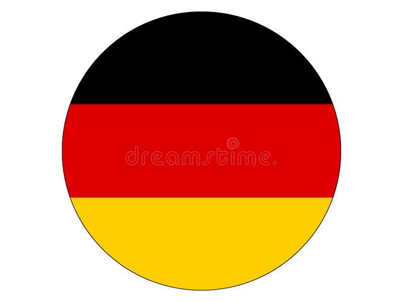 Indicateur rond de l'Allemagne illustration de vecteur