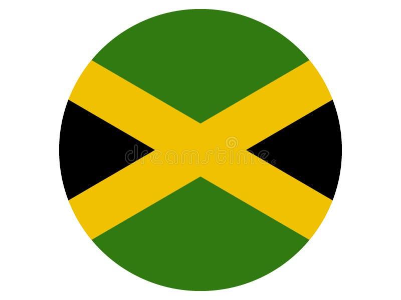 Indicateur rond de la Jamaïque illustration libre de droits