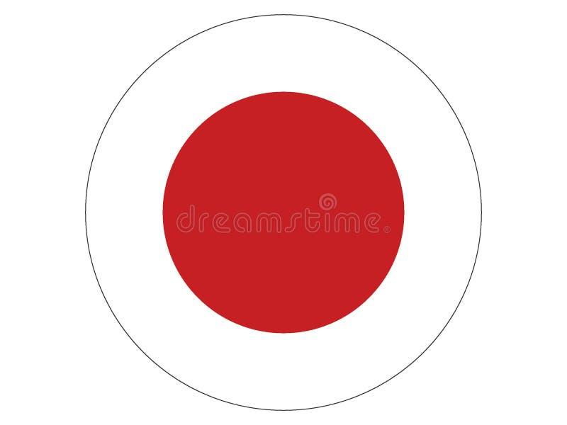 Indicateur rond du Japon illustration libre de droits