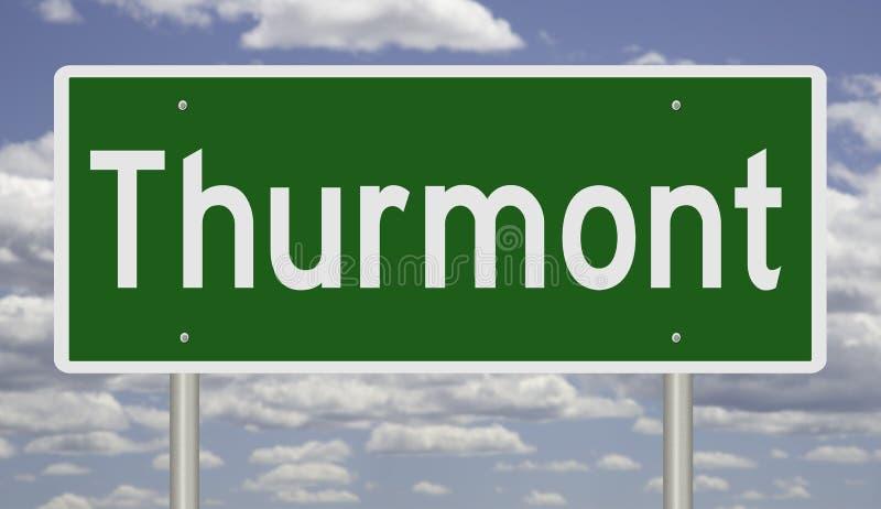 Indicateur routier pour le Thurmont image libre de droits