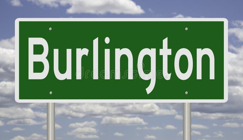 Indicateur routier pour le Vermont de Burlington photo libre de droits