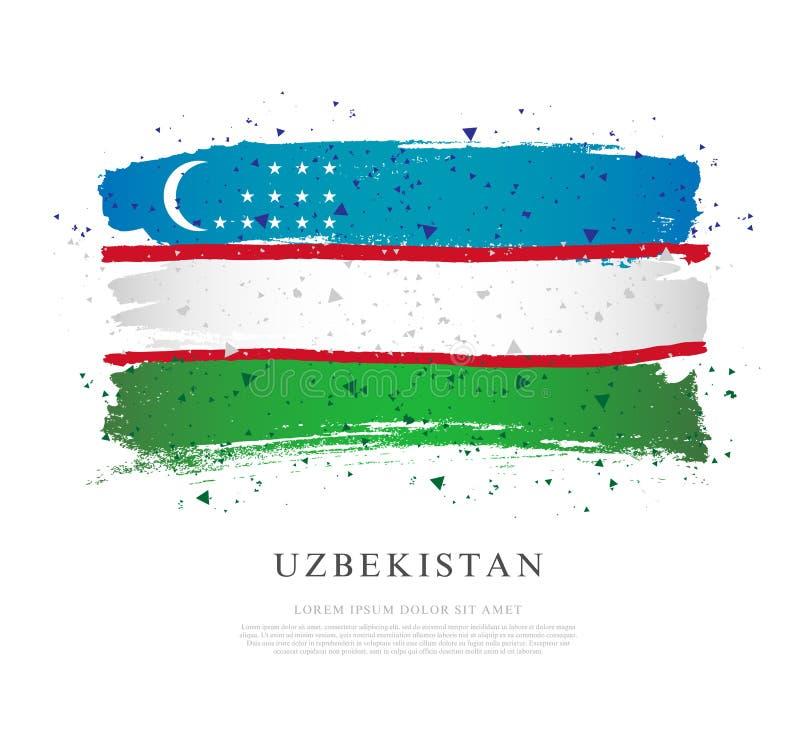 indicateur uzbekistan Courses de brosse dessin?es ? la main illustration stock