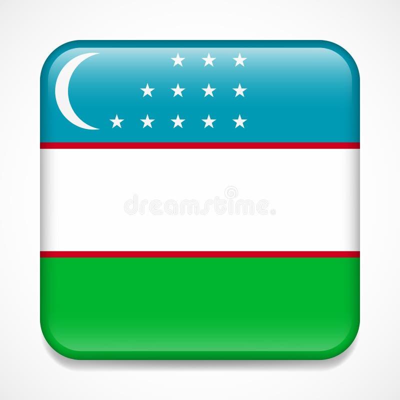 indicateur uzbekistan Insigne brillant de place illustration de vecteur