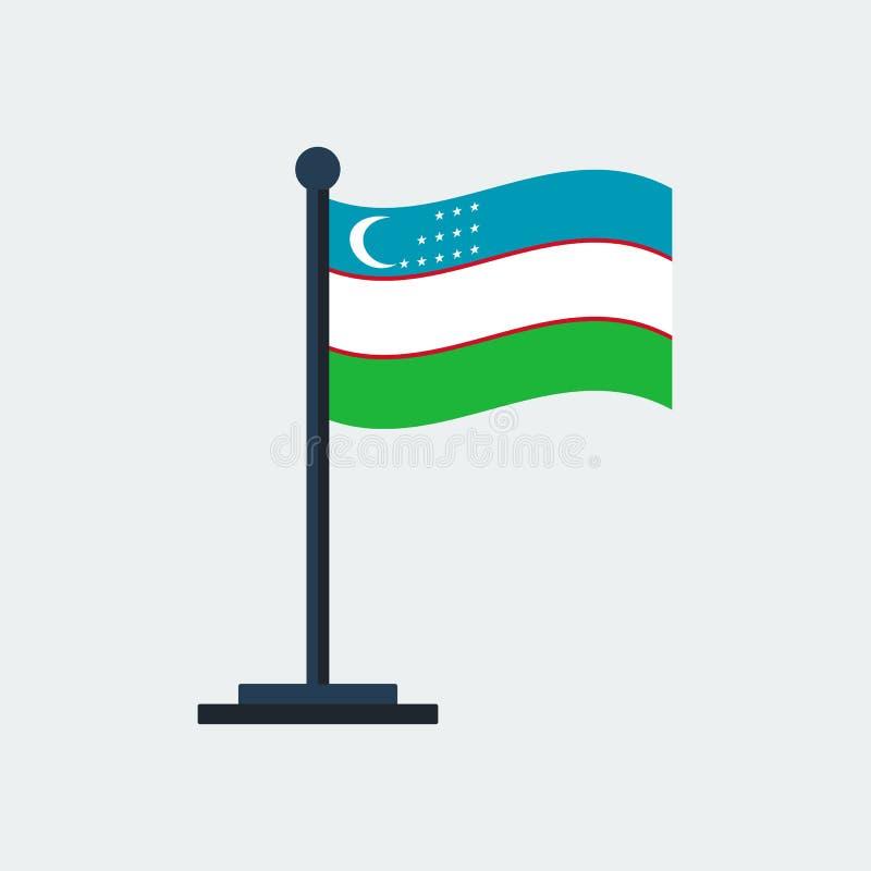 indicateur uzbekistan Support de drapeau Illustration de vecteur illustration libre de droits