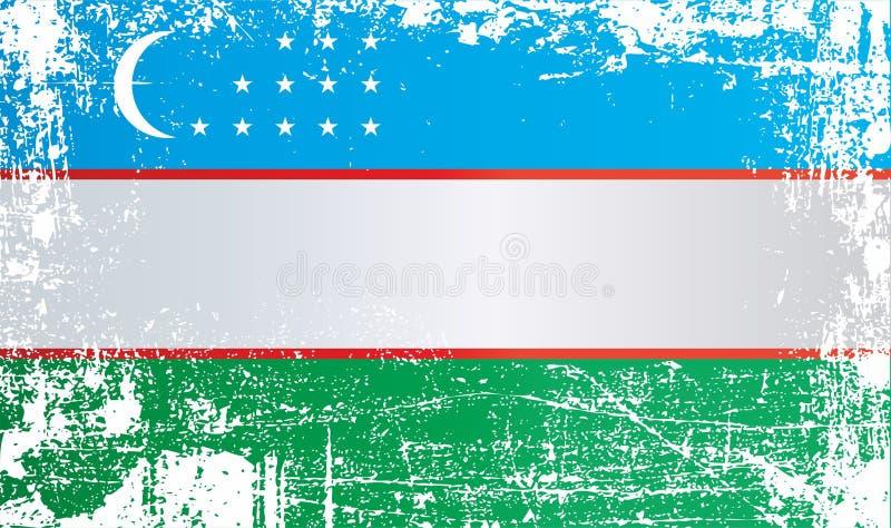 indicateur uzbekistan Taches sales froissées illustration libre de droits
