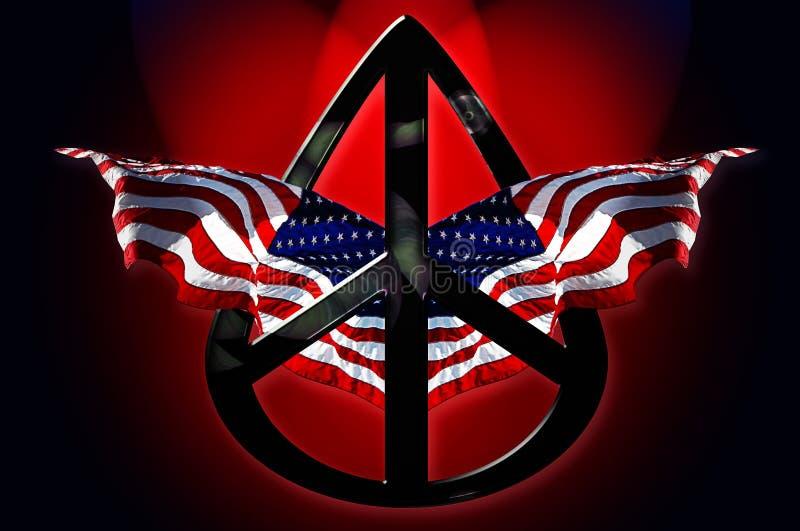Indicateurs américains de paix images stock