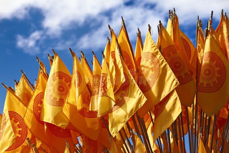 Indicateurs bouddhistes photos libres de droits